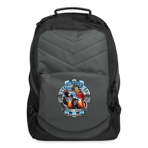 Custom Speed Shop Hot Rods and Muscle Cars Illustr - Computer Backpack
