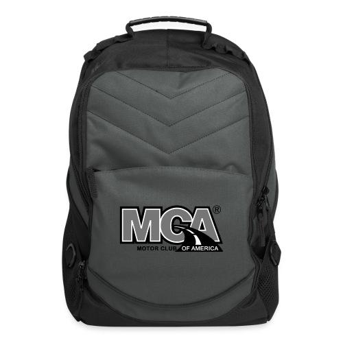 MCA Logo WBG Transparent BLACK WHITE TITLEfw fw pn - Computer Backpack