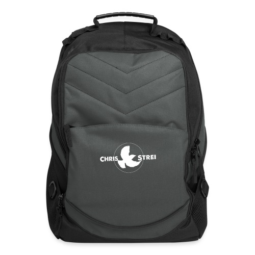 Chris Strei BlackBird Logo (white) - Computer Backpack