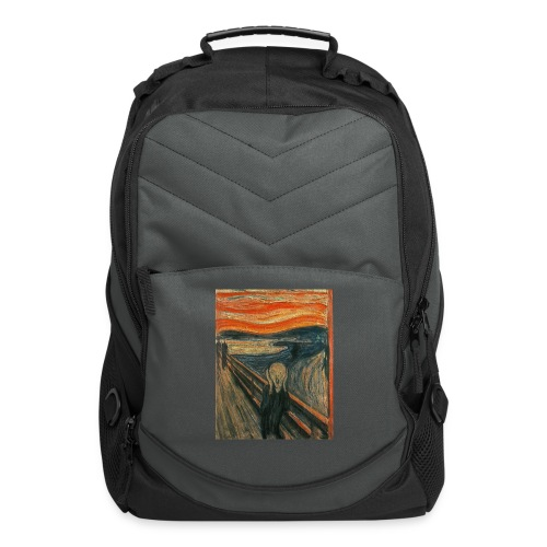 The Scream (Textured) by Edvard Munch - Computer Backpack
