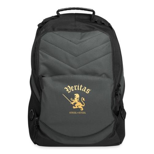 Gold Lion Veritas Logo - Computer Backpack