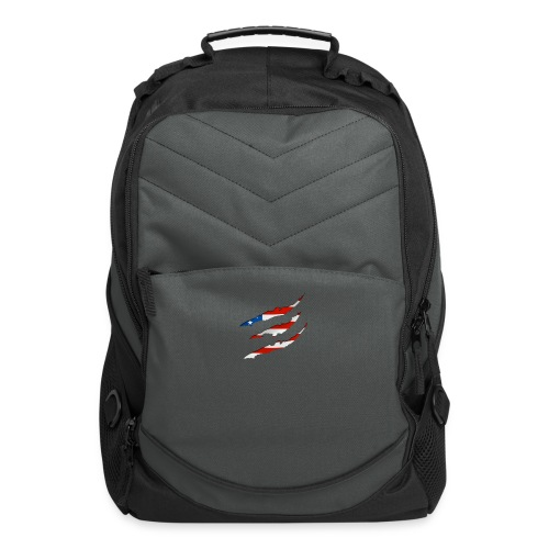 3D American Flag Claw Marks T-shirt for Men - Computer Backpack