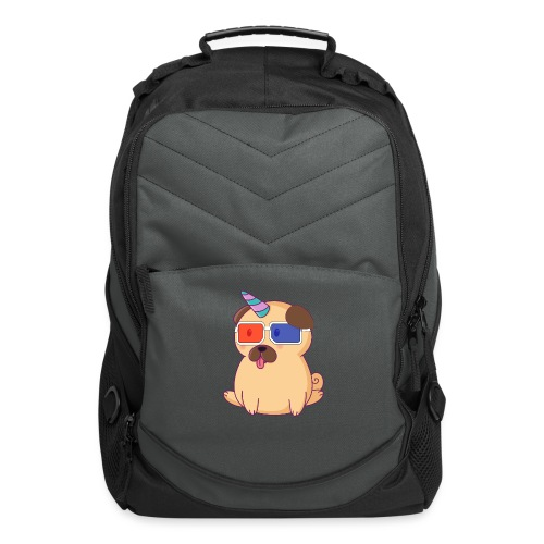 Dog with 3D glasses doing Vision Therapy! - Computer Backpack