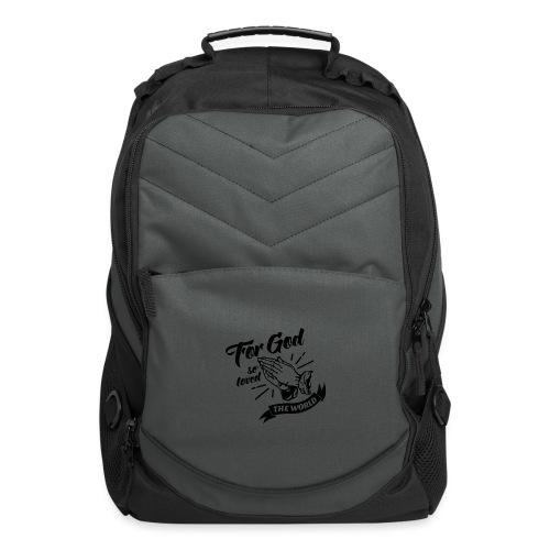 For God So Loved The World… - Alt. Design (Black) - Computer Backpack