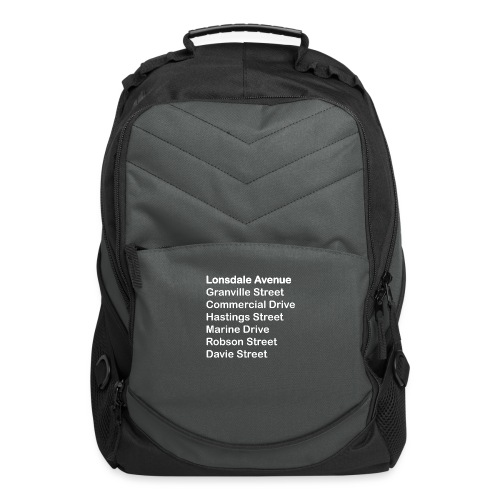 Street Names White Text - Computer Backpack