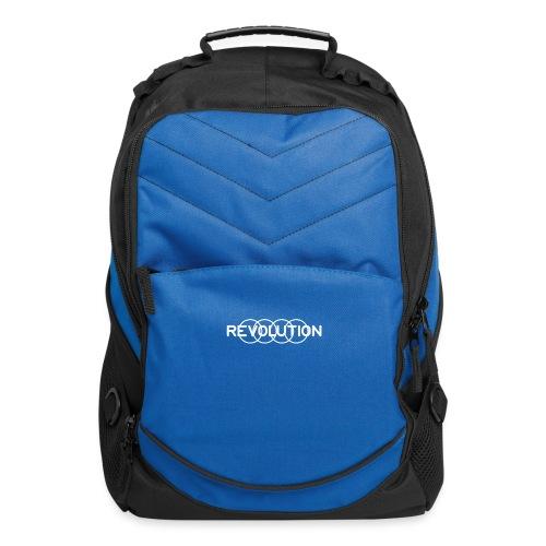 White Revolution Logo - Computer Backpack