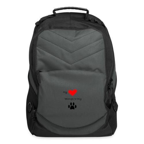 Dog Lovers shirt - My Heart Belongs to my Dog - Computer Backpack
