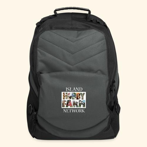 Island Hobby Farm White Logo - Computer Backpack