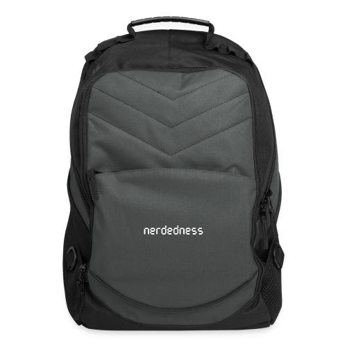 nerdedness segment text logo - Computer Backpack
