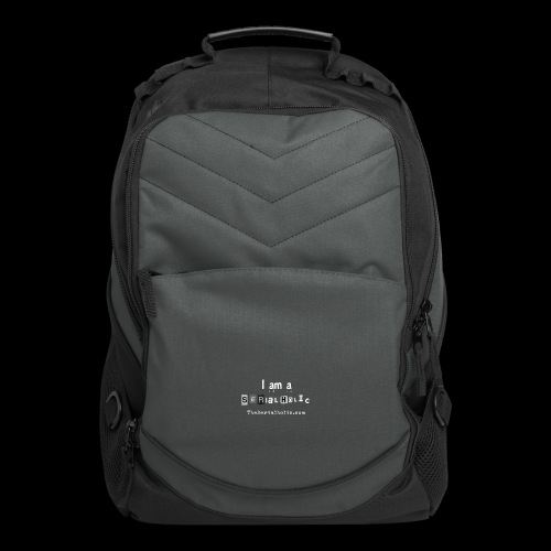 White Serialholic Logo - Computer Backpack