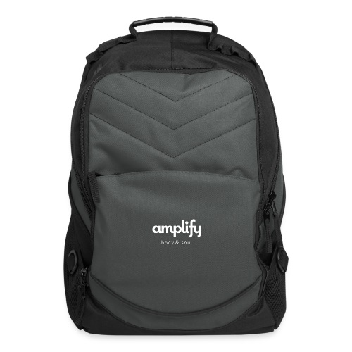 amplify logo // white - Computer Backpack