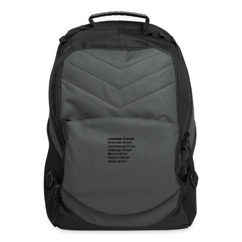 Street Names Black Text - Computer Backpack