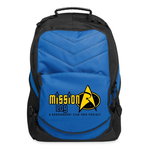 Logo Wide 2 Color Black Text - Computer Backpack