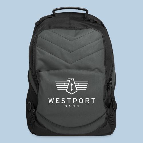 Westport Band White on transparent - Computer Backpack