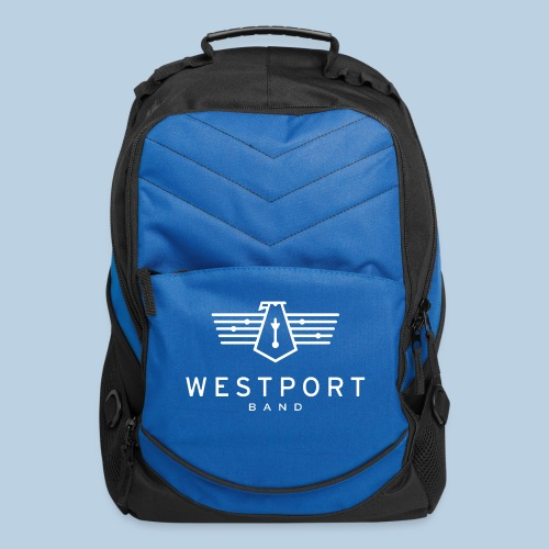 Westport Band White on transparent - Computer Backpack
