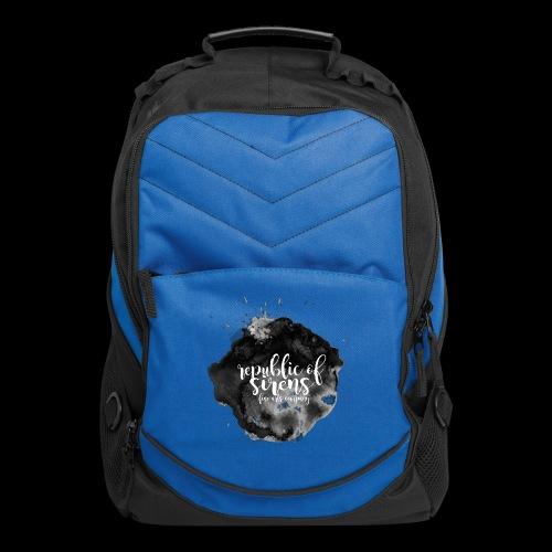 ROS FINE ARTS COMPANY - Black Aqua - Computer Backpack
