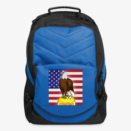 Patriotic Bald Eagle Dumps on Trump - Computer Backpack