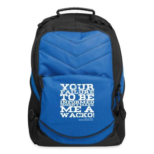SOS Wacko White Logo - Computer Backpack