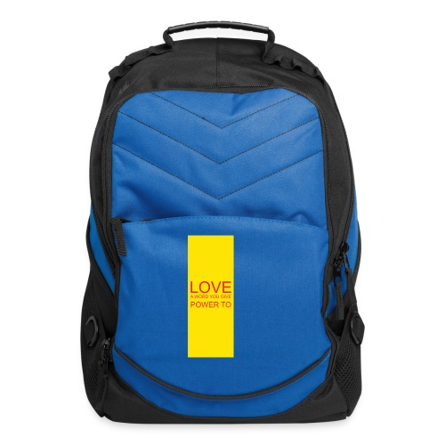 LOVE A WORD YOU GIVE POWER TO - Computer Backpack