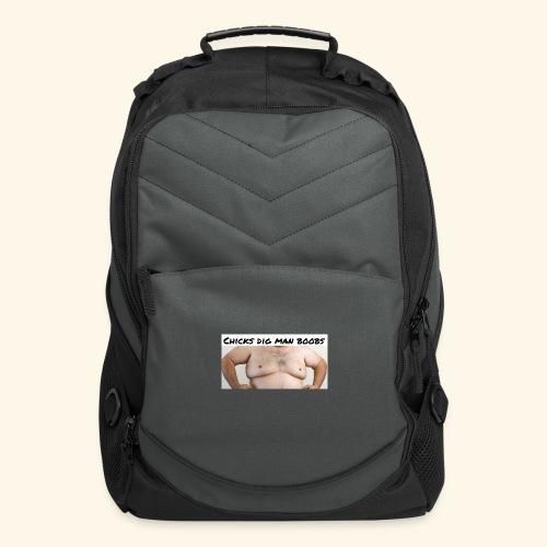 chicks dig man boobs - Computer Backpack