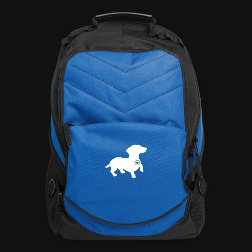Dachshund silhouette white - Computer Backpack