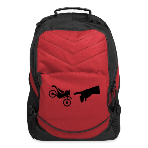 The hand of god brakes a motorcycle as an allegory - Computer Backpack