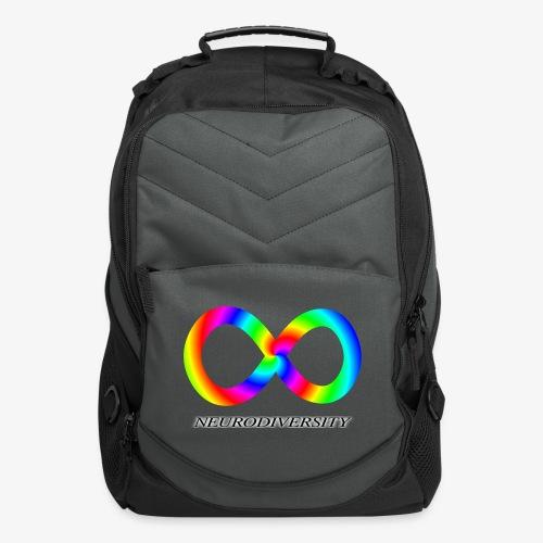 Neurodiversity with Rainbow swirl - Computer Backpack