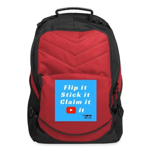 Flip It Blue Back Flip T-shirt - Computer Backpack