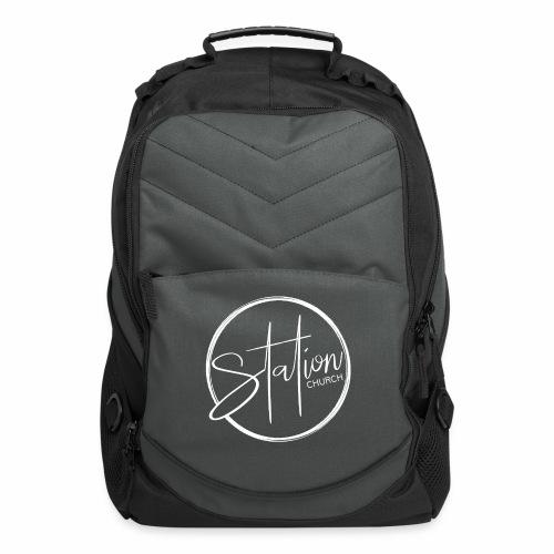 White Logo - Computer Backpack
