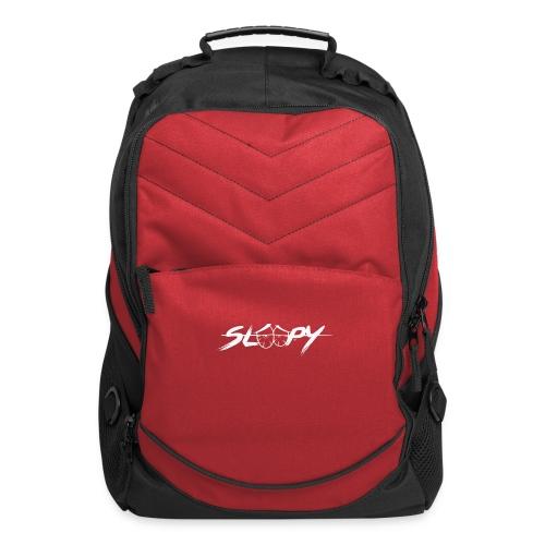 Sleepy Logo White - Computer Backpack