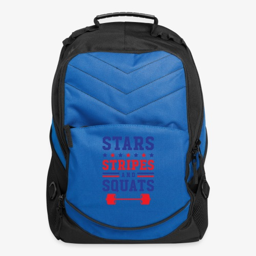 Stars, Stripes And Squats - Computer Backpack