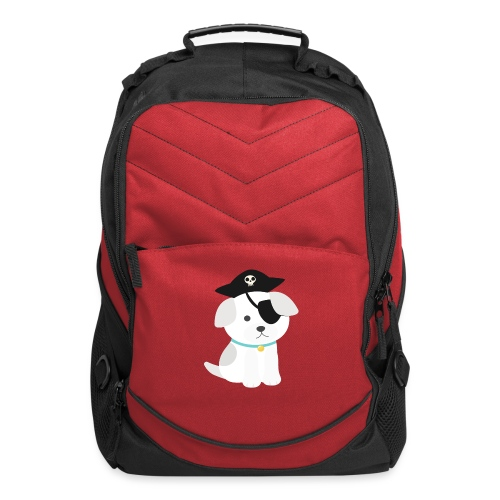 Dog with a pirate eye patch doing Vision Therapy! - Computer Backpack