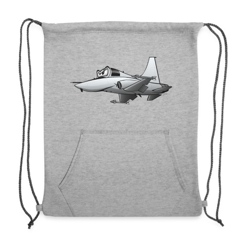 Military Fighter Jet Airplane Cartoon - Sweatshirt Cinch Bag
