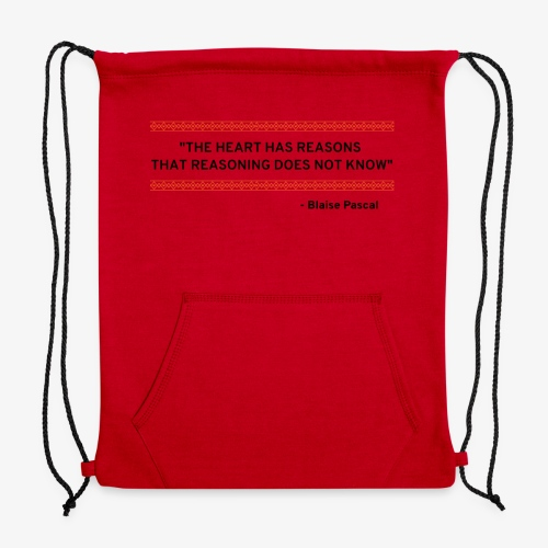 Blaise Pascal - Quote - Sweatshirt Cinch Bag