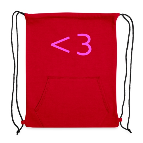 PINK HEART - Sweatshirt Cinch Bag