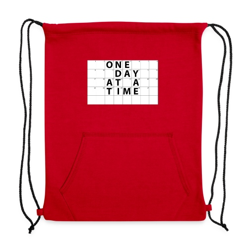 One Day At A Time Inverse - Sweatshirt Cinch Bag