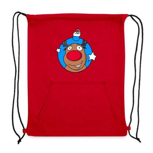reindeer bauble reflect blue - Sweatshirt Cinch Bag
