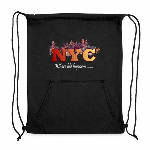 nyc splash - Sweatshirt Cinch Bag