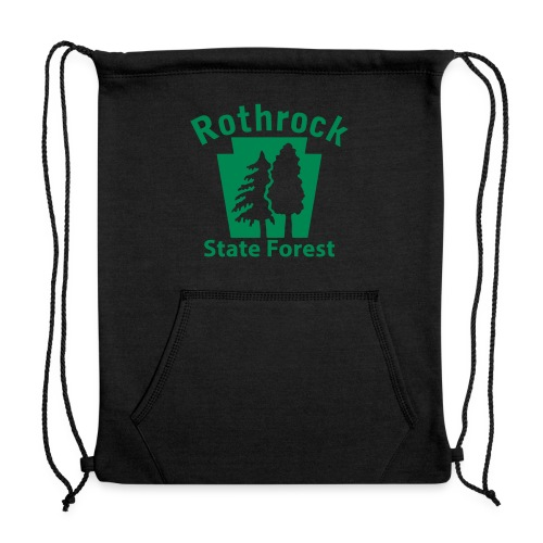 Rothrock State Forest Keystone (w/trees) - Sweatshirt Cinch Bag