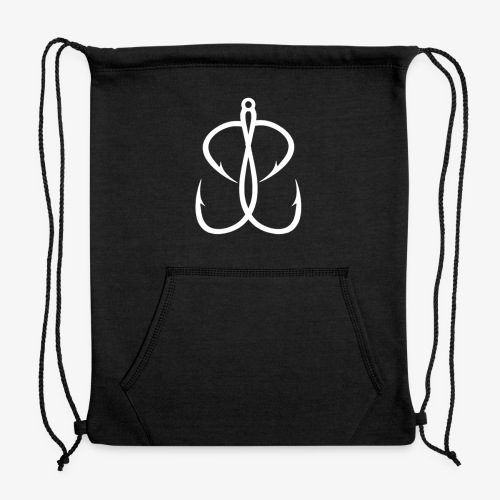 BassBulliesTV White Logo Apparel - Sweatshirt Cinch Bag