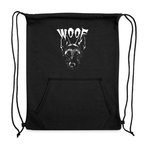 Woof Funny German Shepherd T-Shirt - Sweatshirt Cinch Bag