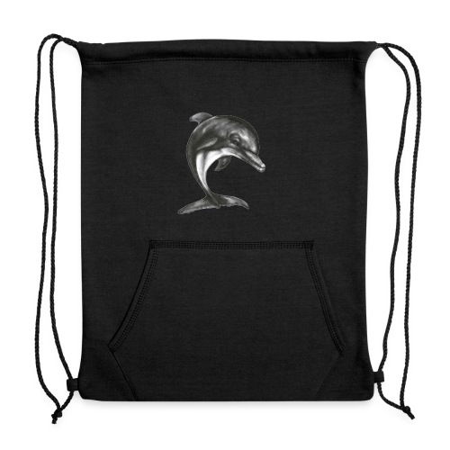 dolphin transparent background - Sweatshirt Cinch Bag