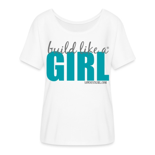 blag turquise png - Women's Flowy T-Shirt