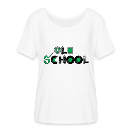 Old School Music - Women's Flowy T-Shirt