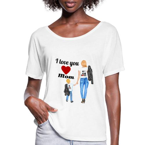 Mother's day gift from daughter, Mother's Day Gift - Women's Flowy T-Shirt