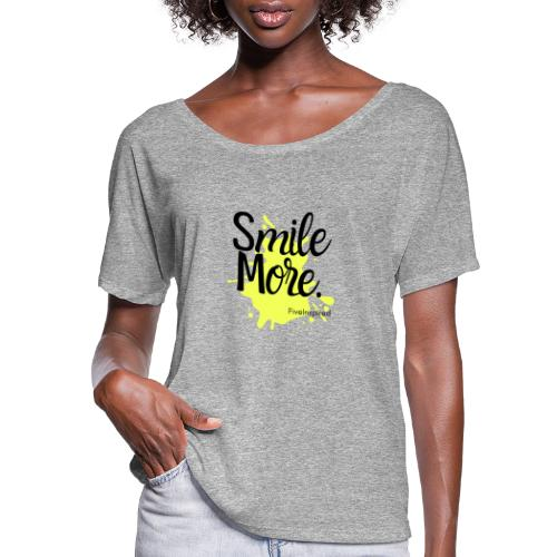 Smile More - Women's Flowy T-Shirt