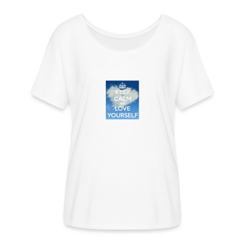 Keep calm and love yourself - Women's Flowy T-Shirt