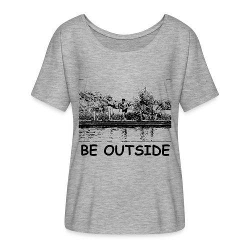 Be Outside - Women's Flowy T-Shirt