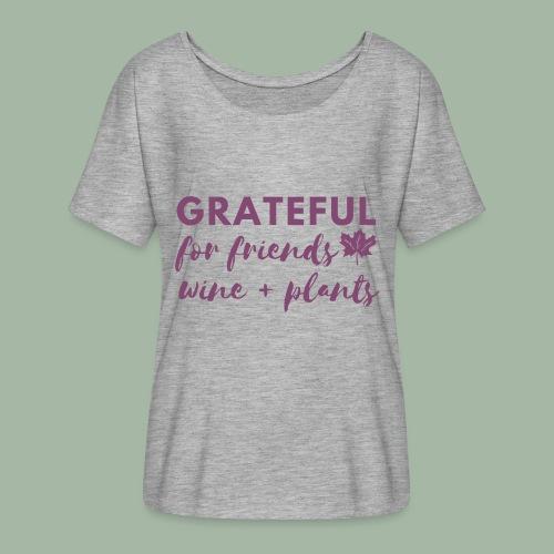 Grateful - Women's Flowy T-Shirt