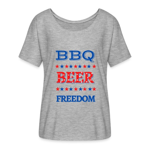 BBQ BEER FREEDOM - Women's Flowy T-Shirt